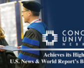 Concordia University, Nebraska – Achieves its Highest Rank in U.S. News & World Report's Best Colleges