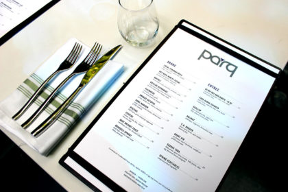Travel Series Destination San Diego - Parq Restaurant Menu