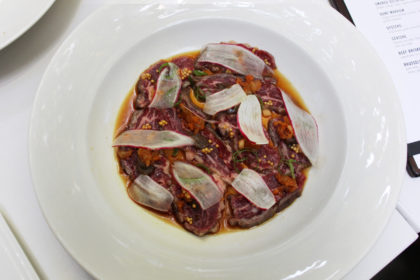 Travel Series Destination San Diego - Parq Restaurant Dry Aged Ribeye Tataki