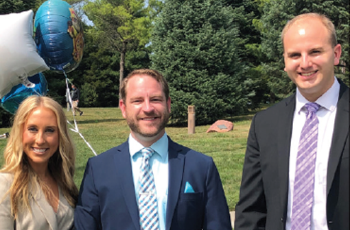 New Berry Law attorneys, left to right, Montana Crow, Carey Collingham, and David Hoeser at Nebraska State Bar swearing-in at the Pinewood Bowl on September 15.